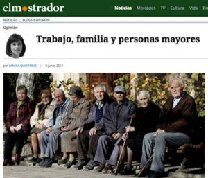 Trabajo familia y personas mayores